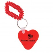 Heart Key Chain w/ Coil