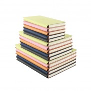 High Quality Imitation Leather Wireless Glue Binding Notebook