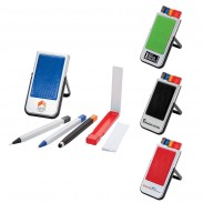 Mobile Device Stand with Pen, Pencil, Stylus & Microfiber Cloth