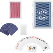 Customized Play Cards with Plastic Case Suit to Desk Games and Office Games.