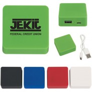 Promotional Portable Rubber Finish Power Bank with DIY LOGO