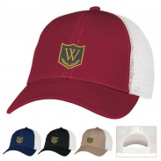 Promotional  Washed Cotton with Polyester Mesh back  Classic Cap