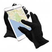 Promotional Black Mobile Phone Isotoner (R) SmarTouch (R) Tech Gloves