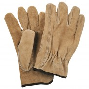 Promotional Leather Safety Works Double Palm Leather Gloves White Cuff