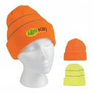 Promotional Outdoor  Knit Beanie With Reflective Stripes