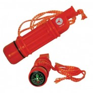 Survival Whistle with Compass