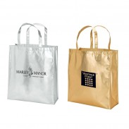 Recyclable Laminated Metallic Tote Bag