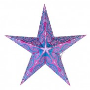 Dia 24 Inch Valentine's Day Paper Star Decoration