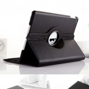 Simulated Leather Case for iPad with Rotary Stand