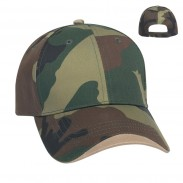 Sunscreen Cotton Twill Camouflage Wave Sandwich Cap