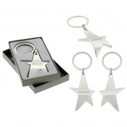 The Silver Stella Key Chain