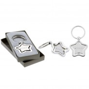 The Silver Stella Spinner Key Chain