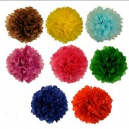 Promotional Tissue Paper Flowers Balls 6inch 8 Assorted Color with DIY LOGO
