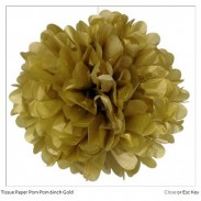 Promotional Tissue Paper Flower Ball  Gold