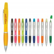Hot Sale Twin Write Highlighter Advertising Ballpoint Pen