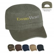 Customized Blue Washed cotton twillVisors Standard  Military Camouflage Cap