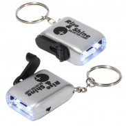 Mini Dynamo Flashlight Key Chain