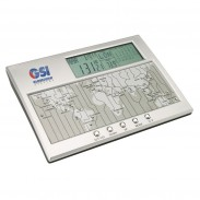 World Time Clock, Calendar & Thermometer