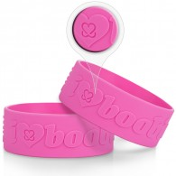 2 inch Embossed Silicone Bracelet