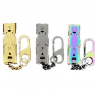 Promotional Stainless Steel Alloy High Frequency Lifesaving Whistle with DIY LOGO