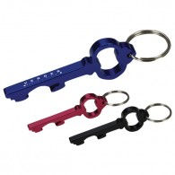Key Shape Bottle Opener Engraved Key Ring
