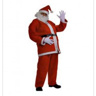 4 Piece Santa Suit Set Christmas Santa Claus Costume Adult One Size Fit Most NEW