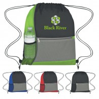 Customized Color Block Drawstring Sportpacks