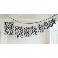 Promotional Zebra Print Lantern Garland 12ft with DIY LOGO