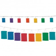 Promotional Rainbow Lantern Garland 12ft with DIY LOGO