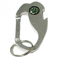 Jumbo Size 4 in 1 Carabineer with Compass and Bottle Opener Key Chain
