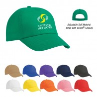 Promotional 5 Panel Medium Profile Visors Budget Saver Non-Woven Cap