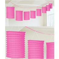 Promotional Beautiful Multicolor Lantern Garland with DIY LOGO-4inch