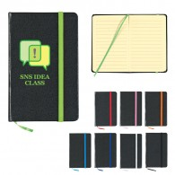 black moleskine notebook