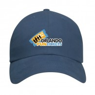 Promotional Brush cotton twill Navy All-Around Unstructured Baseball Cap