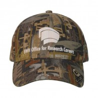Promotional cotton Structured Cap Oilfield Camo With Visor Logo