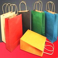 Custom Kraft Paper Gift Bag With Handles
