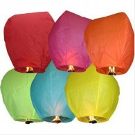 Promotional Beautiful Paper Sky Lanterns with DIY LOGO