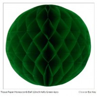 Tissue Paper Honeycomb Ball 8inch Kelly Green