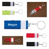 Flat 4 LED Lantern Key Chain