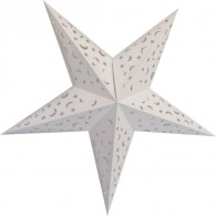 Half-monn Sharp Paper Decoration Star 24 inch