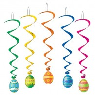 Hanging Decoration-Easter Egg Whirls (5/pkg)
