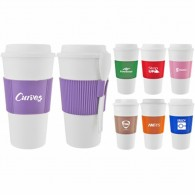Promos 16OZ PP Drink holders CUP with Spoon witn Diy LOGO