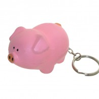 Promotional Pig Stress Ball Key Chain