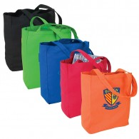 Promo Colorful Cotton Canvas Shopping Bag