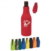 long-neck bottle holder with zippered closure