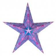 Dia 18 Inch Valentine's Day Paper Star Decoration