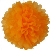 Customized Tissue Paper Flower Ball Orangesicle