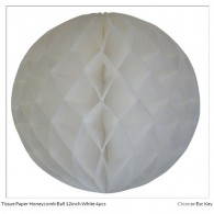 Tissue Paper Honeycomb Ball 8 inch White
