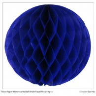 Tissue Paper Honeycomb Ball 8inch Royal Purple