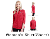 Custom Short Sleeve Women's Shirt